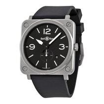 Bell & Ross Men's BRS-BLC-ST Aviation Steel Watch