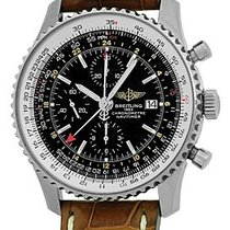 "Breitling ""Navitimer World"" GMT Chronograph Strapwatch."
