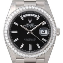 Rolex Day - Date Baguette Diamond Dial and Diamond Bezel