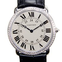Cartier Ronde Louis Cartier 18k White Gold Silvery White...