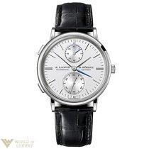 A. Lange & Söhne Saxonia 18k White Gold Automatic GMT...