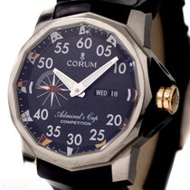 Corum Admirals Cup Competition Ref-01001 Titanium Box Papers...