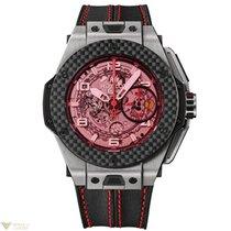 Hublot Ferrari 45 mm Titanium Carbon Rubber Leather Men`s Watch