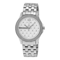 Armani Exchange Lady Hamilton Silver Quilted Dial Ladies Watch...