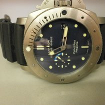 Panerai Pam 371 Gmt Regatta Submersible  47mm Titanium Auto Diver