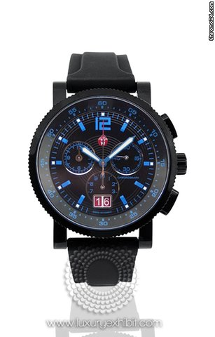 Michele Sail Techno Black Ion-plated Mens Watch MWW01K000037
