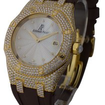 Audemars Piguet Lady's Yellow Gold ROYAL OAK Pave Diamond...