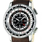 Fortis B-47 Calculator GMT 3 Time Zones Brown Stahl Automatik...