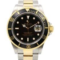 Rolex Submariner 16613 Men's 40mm Black Yellow Gold...