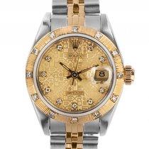 Rolex Datejust Lady Stahl/Gelbgold Diamond Automatik Armband...