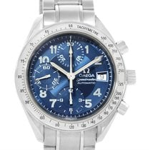 Omega Speedmaster Date Blue Dial Chronograph Mens Watch...
