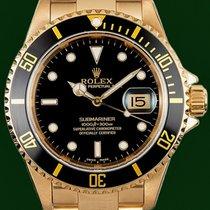 勞力士 (Rolex) Submariner 16618 Date 18k Gold 2006 Service Papers
