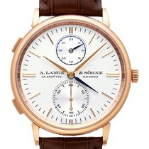 A. Lange & Söhne Saxonia Dual Time Rotgold Ref. 386.032