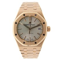 Audemars Piguet AP Royal Oak 37mm Rose Gold Watch Nickel Grey...
