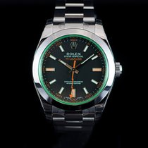 Rolex Milgauss Anniversary Edition Green Crystal