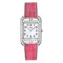 Hermès Cape Cod Mother Of Pearl Dial Ladies Raspberry Leather...
