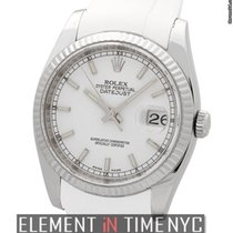 Rolex Datejust Stainless Steel 36mm White Index Dial On...
