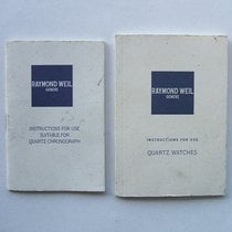 Raymond Weil Libretti / Booklet di corredo
