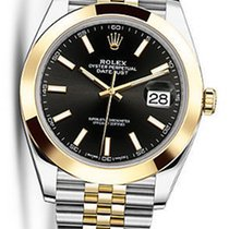 Rolex OYSTER PERPETUAL DATEJUST BLACK DIAL 41MM 126303 NEW