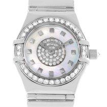 Omega Constellation Specialties 18k White Gold Pave Diamond...