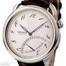 Hermès Arceau Le Temps Suspendu Ref- AR8910 Stainless Steel...