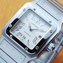 Cartier Santos Automatic Stainless Steel Square Quickset Mid...