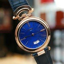 Bovet Chateau de Motiers Blue Dial Rose Gold 40mm Watch