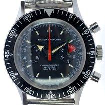Nivada Mans Divers Chronograph Wristwatch Chronomaster Aviator...