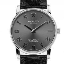 Rolex Cellini Classic 18kt Weißgold 32mm Handaufzug Armband...