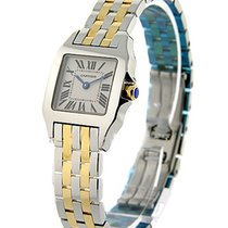 Cartier W25066Z6 Santos Demoiselle in Yellow Gold and Steel -...