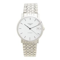 Longines Elegant Stainless Steel White Automatic L4.809.4.12.6
