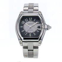 Cartier Roadster Large Stainless Steel Automatic Black Dial...
