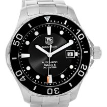 TAG Heuer Aquaracer Calibre 5 Steel Mens Watch Wan2110.ba0822