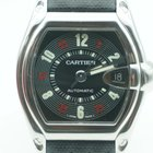 Cartier Roadster Large Stainless Steel orig Leather Material...