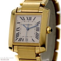 Cartier Tank Francaise Ref-1840 18k Yellow Gold Box Papers...