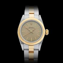 Rolex Oyster Perpetual Stainless Steel/18k Yellow Gold Ladies...