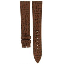 Baume & Mercier Brown 6 Black Striped Leather Strap 19mm/16mm