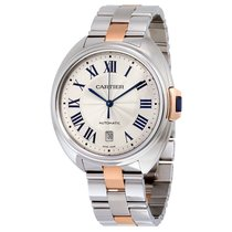 Cartier Cle Automatic Stainless Steel 18kt Rose Gold Mens...