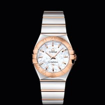 Omega Constellation quartz  27 mm Steel/Red Gold White Dial T