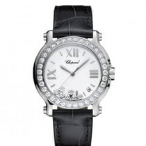 Chopard Happy Sport 36mm Diamonds Steel Lady