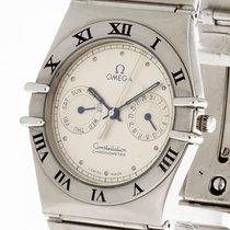 Omega Constellation Chronometer Quarz Stahl an Stahlband