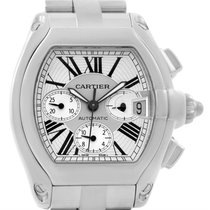 Cartier Roadster Chronograph Silver Dial Mens Watch W62019x6