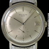 Patek Philippe 3445 Calatrava 18k White Gold Screw Back Automatic