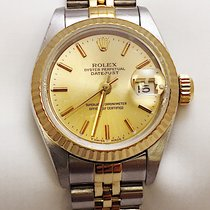 Rolex Ladies Rolex 2 Tone  18k Yellow Gold Oyster Perpetual...
