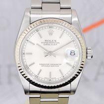 Rolex Medium Datejust Stahl Oysterband 31mm Lady silver dial...
