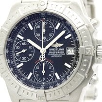 Breitling Polished Breitling Chronomat Black Bird Steel...