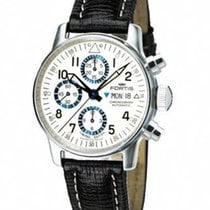 Fortis Flieger Automatic Chronograph - White and Blue Dial -...