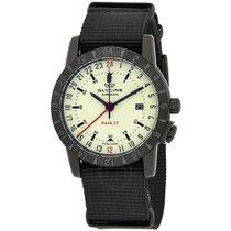 Glycine Airman Base 22 Green Dial Men's GMT Watch
