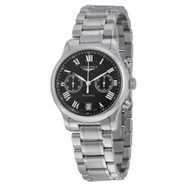 Longines Master Automatic Black Dial Stainless Steel Mens...
