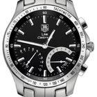 TAG Heuer Link Calibre S Stainless Steel Chronograph Black Quartz